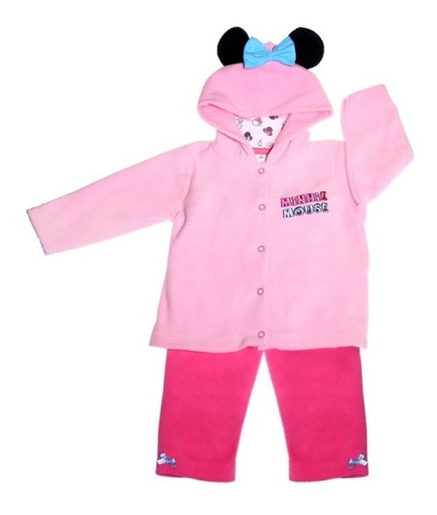Conjunto Pantalon Polar Bordado Estampado Minnie Bb Ideal
