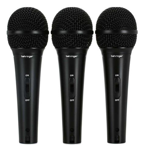 Micrófonos Behringer Ultravoice XM1800S dinámico  supercardioide negros