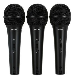 Micrófonos Behringer XM1800S supercardioide negros