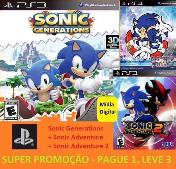Sonic Generations - Jogo Original Digital Ps3 + 2 Brindes