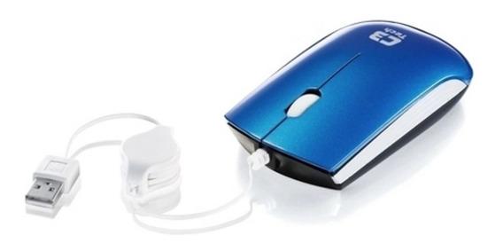 Mouse Usb Retrátil C3 Tech Ms3220 - Azul + Nf + Promoção