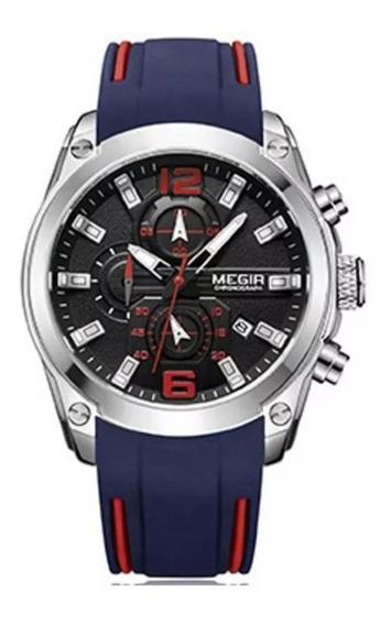 Relógio Megir 2063 Masculino Original Casual Esportivo - 12x