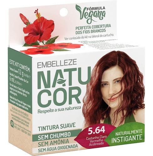 Tinta Natucor  Naturalmente  Castanho Claro Vermelho 5.64