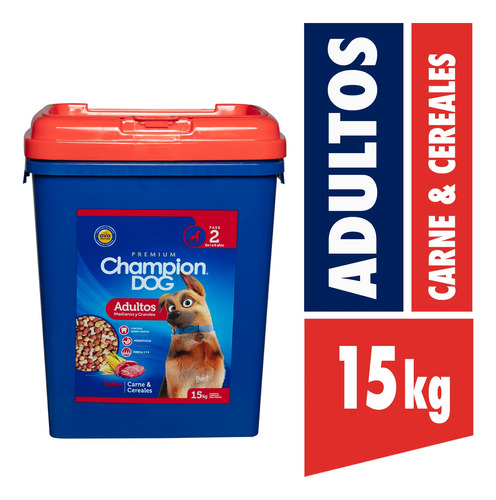 Champion Dog Adulto Carne Y Cereales 15kg