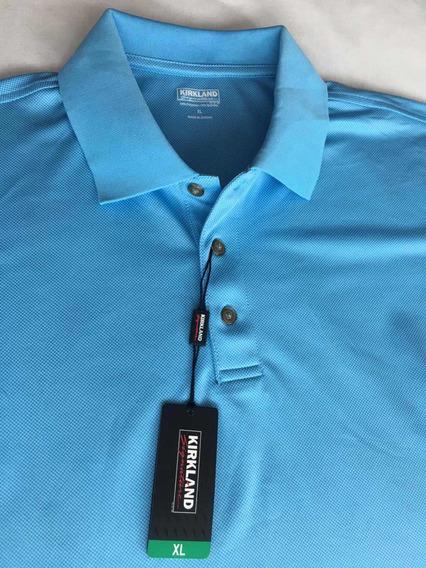 Kirkland Playera Polo Para Caballero Talla Xl Color Azul