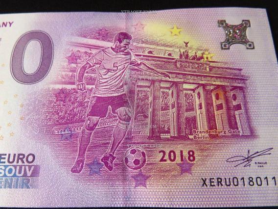 #103 Billete 0 Euro Alemania Puerta Brandenburg Mundial 2018