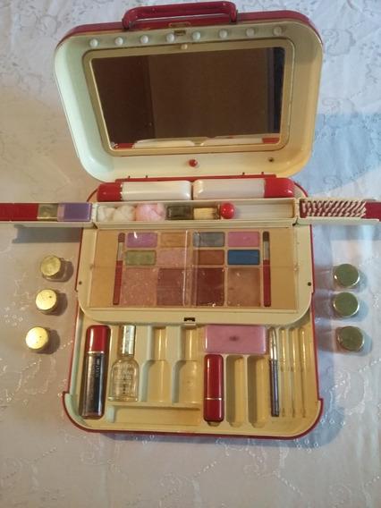 Kit De Maquiagem Maleta Vintage Antiga Anos 70