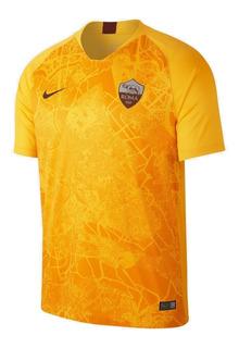 Camisa Roma Nike Uniforme Ill 18/19 Original