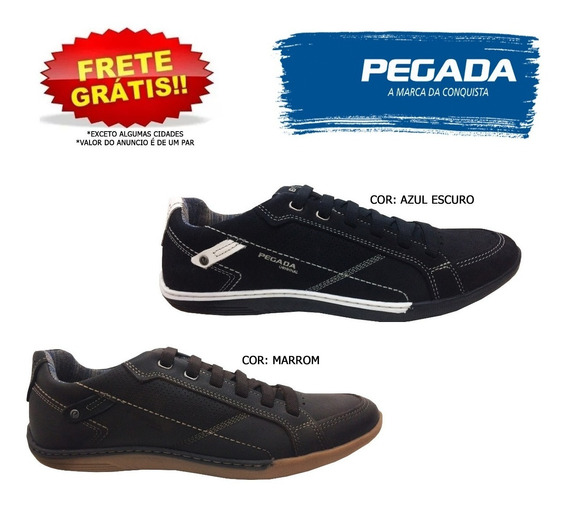 Sapatênis Pegada 114063 Masculino Blue Brown 21140 Original