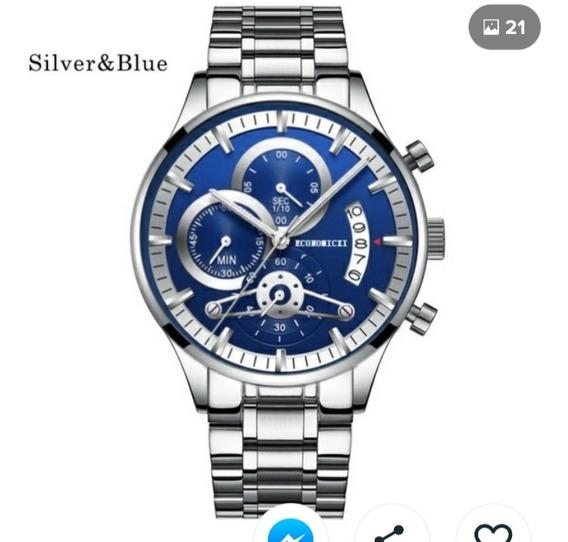Relógio Luxury Inox