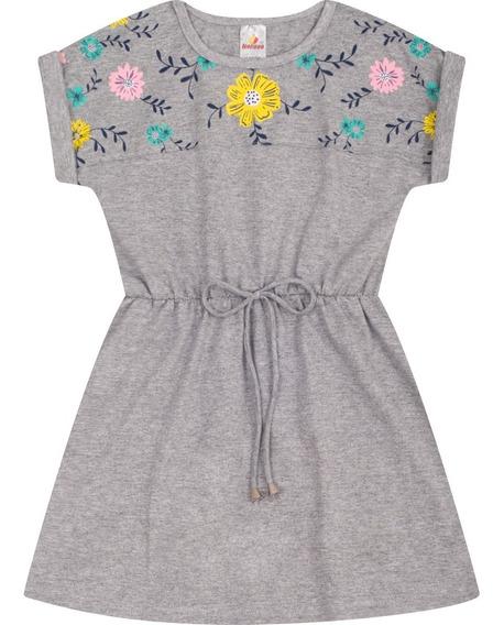 Roupa Infantil Vestido Meia Malha Curto Verão Isensee