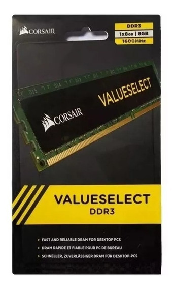 Memoria Ddr3 8gb 1600 Mhz Corsair Value Pc Caballito