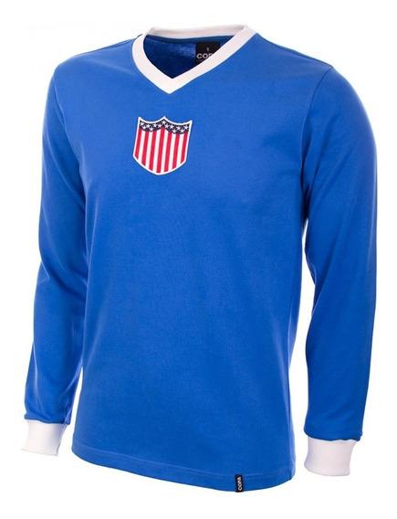 Camisa Retro Seleção Dos Estados Unidos 1934 Manga Longa