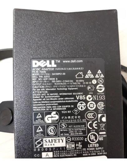 Fonte Carregador Dell Notebook 19.5v 6.7a Wrhkw Da130pe1-00