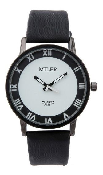 Relógio De Pulso Masculino Clássico Miler A8287 Original