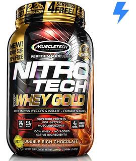 Nitro Tech Gold 1kg - Muscletech - 4g Glutamina P/ Dose!