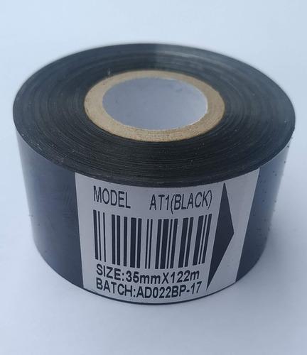 Imagen 1 de 4 de Rollo De Ribbon Negro, 35 X122mts Para Fechadores Hot-stamp.
