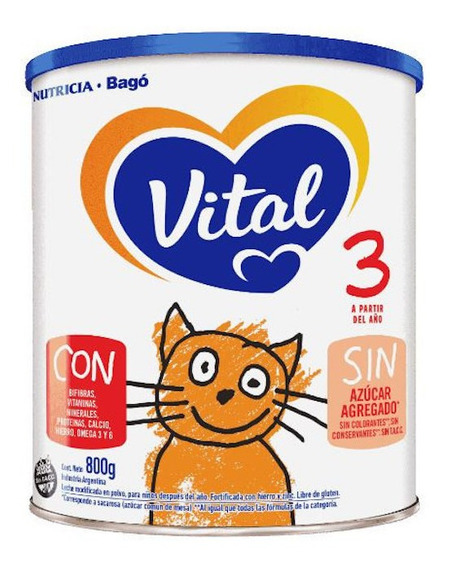 Leche de fórmula en polvo Nutricia Bagó Vital 3 en lata de 800g