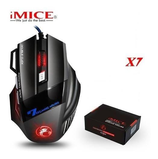 Mouse Gamer Imice X7 5500dpi, Com Fio, Leds Coloridos, Novo