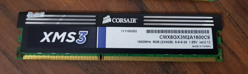 Memória Ram Corsair Xms3 8gb (2x4gb) Cmx8gx3m2a1600c9