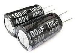 Capacitor Eletrolítico 100uf 450v*100uf X 450v Secon 5pç