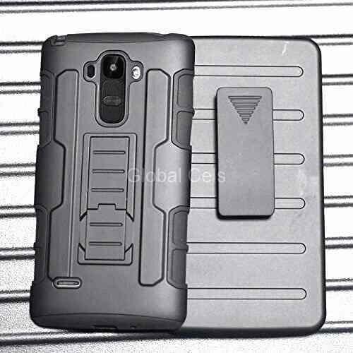 Case LG G4 Stylus Carcasa Holster Gorila Funda Gancho Mica
