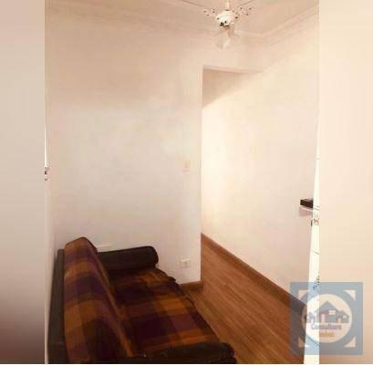Kitnet Com 1 Dormitório Para Alugar, 44 M² Por R$ 1.300/mês - José Menino - Santos/sp - Kn0629