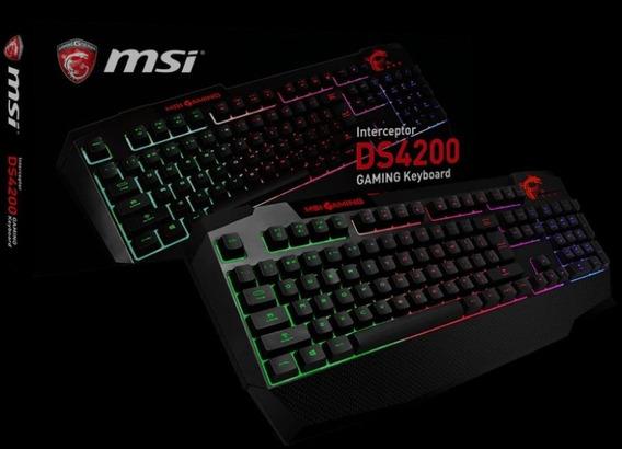 Teclado Msi Gaming Interceptor Ds4200 Preto Semi-mecânico