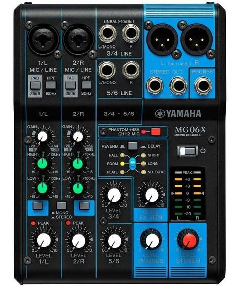 Mesa De Som 6 Canais Com Phantom Mg06x - Yamaha