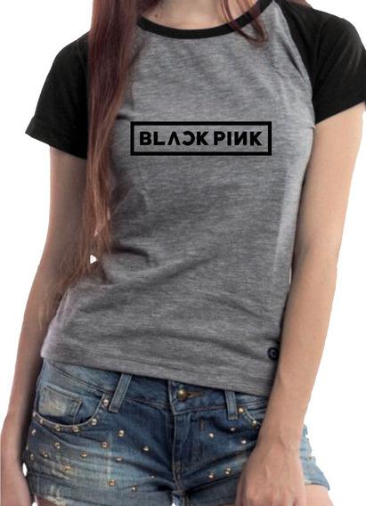 Camiseta Babylook K-pop Blackpink Rosé Super Promoção