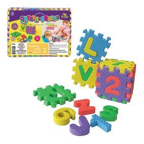 Quebra Cabeça Em Eva Letras E Números Brinquedo Educativo