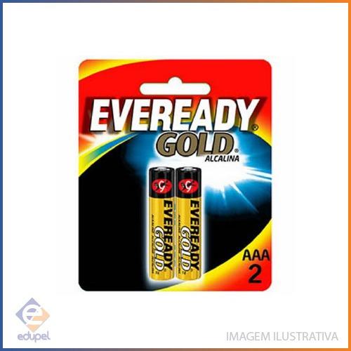 Pilha Alcalina Eveready Gold Alcalina Aaa 2 Unidades -