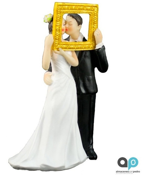 Atractiva Figura De Novios Imagen De Amor Pastel De Bodas