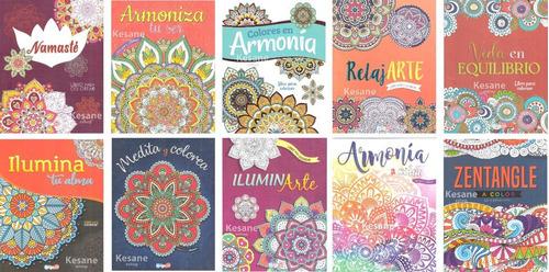 Imagen 1 de 10 de Libro Mandalas Para Iluminar Colorear Paquete Varios Terapia