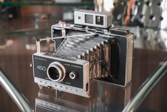 Polaroid Automatic Land Camera 450 Impecável - Com Manual