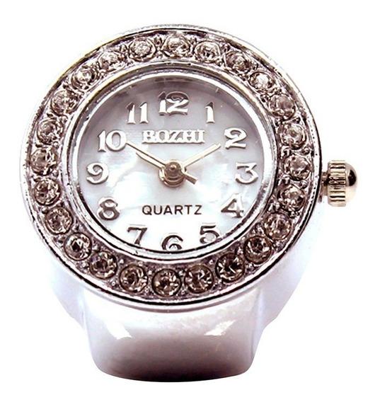 Relógio Feminino Anel De Dedo Novidade Última Moda Um Luxo