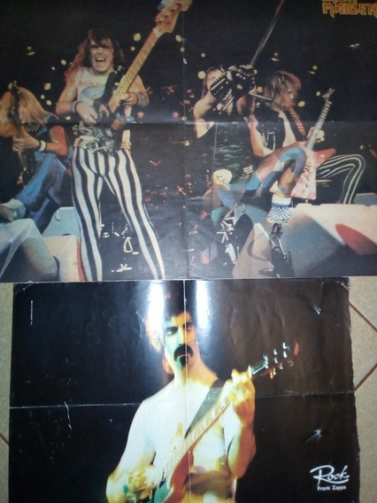 Iron Maiden/frank Zappa Posters Colecccionables