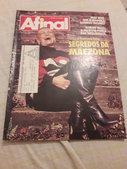 Revista Afinal E Veja Sp, Hebe Camargo Em Capas. Preservada.