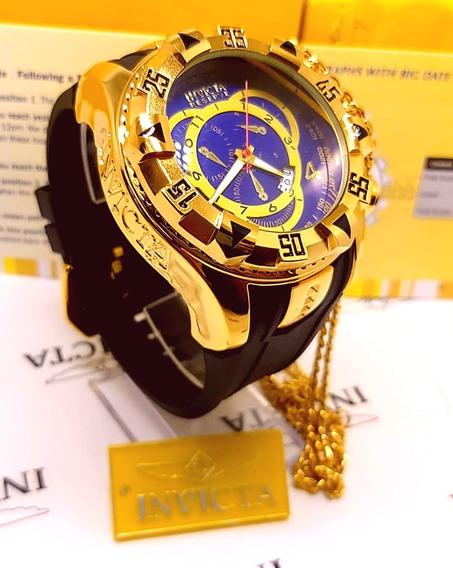 Relógio De Luxo Invicta Excursion -banhado A Ouro 18k