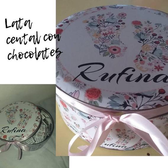 Lata Central Chocolate Personalizados X30 Souvenirs Zona Sur