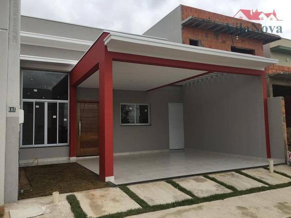 Casa Com 3 Dormitórios À Venda, 105 M² Por R$ 392.200 - Jardim Park Real - Indaiatuba/sp - Ca1063
