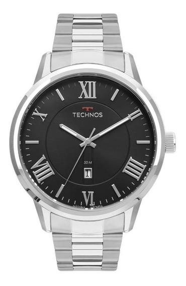 Relógio Technos Masculino Prateado Classic Steel 2115mtz/1p