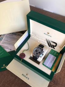 Rolex Daytona Pulseira De Borracha Com Caixa E Documentos