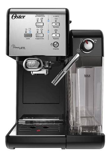 Imagen 1 de 2 de Cafetera Oster PrimaLatte BVSTEM6701 automática acero inoxidable y negra para expreso y cápsulas monodosis 220V
