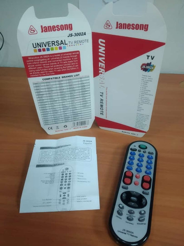 Control Remoto Universal Tv  Lcd Inteligente Janesong 3002a