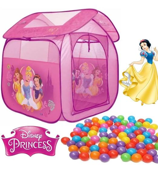 Barraca Toca Casa Infantil Princesas Com 100 Bolinhas