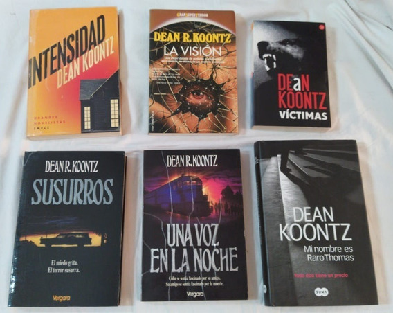 Livro Dean R. Koontz C/ 6 Títulos Em Espanhol La Vision