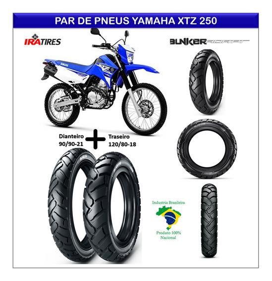 Par Pneu Yamaha Xtz 250 Lander Dianteiro Traseiro