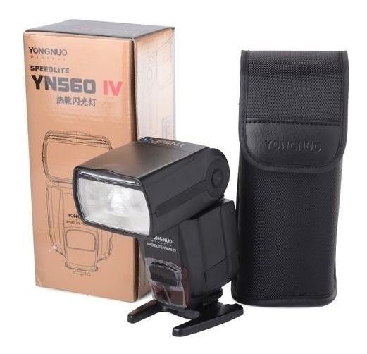 Flash Yongnuo Yn560 Iv Universal P/ Canon Nikon 12x S/juros