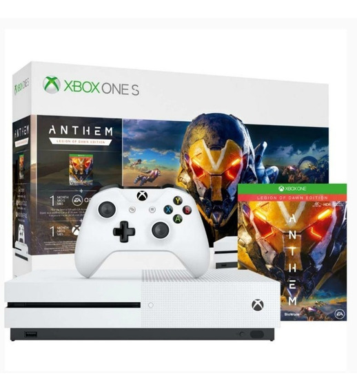Xbox One S 1tb Branco Com Game Anthem Microsoft